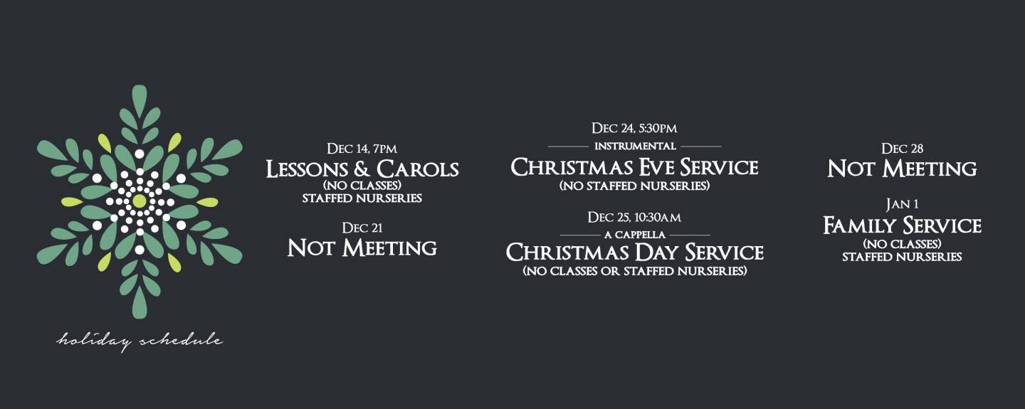 Christmas Schedule